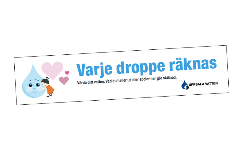 Dekal Uppsala Vatten Varje Droppe Räknas