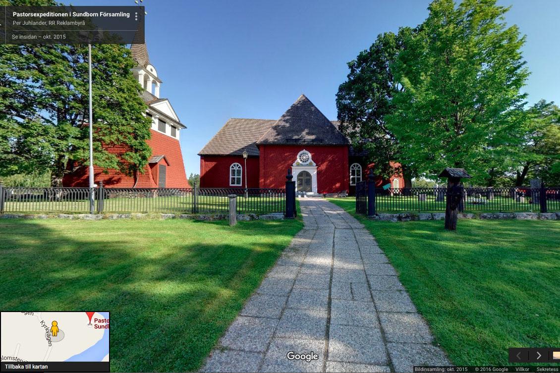 Google Street View – Se Insidan – Sundborns Kyrka