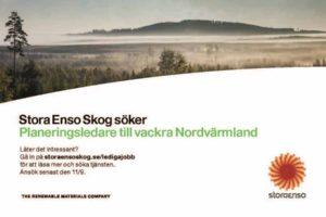 Stora Enso Skog Platsannonser